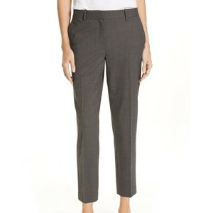 Nordstrom Grey Slim Ankle Stretch Wool Pants